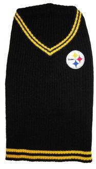 DoggieNation-NFL - Pittsburgh Steelers Dog Sweater - Large