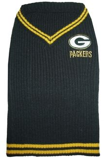 DoggieNation-NFL - Green Bay Packers Dog Sweater - Small