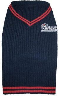 DoggieNation-NFL - New England Patriots Dog Sweater - XtraSmall