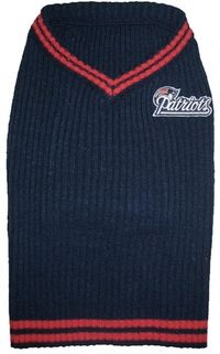 DoggieNation-NFL - New England Patriots Dog Sweater - Small