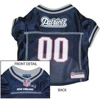 DoggieNation-NFL - New England Patriots Dog Jersey - Alternate Style - Large