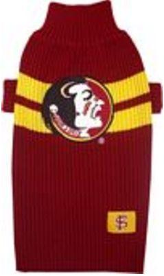 DoggieNation-College - Florida State Dog Sweater - Large