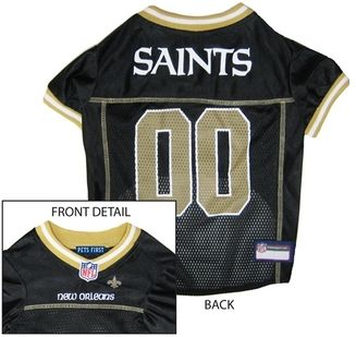 DoggieNation-NFL - New Orleans Saints Dog Jersey - Gold Trim - XtraSmall