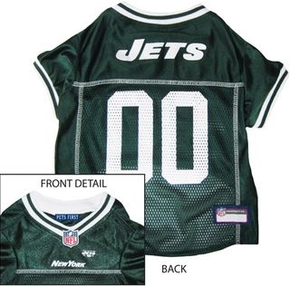 DoggieNation-NFL - New York Jets Dog Jersey - White Trim - Medium
