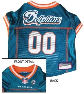 DoggieNation-NFL - Miami Dolphins Dog Jersey - Teal - XtraSmall