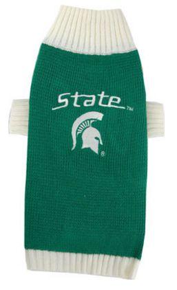DoggieNation-College - Michigan State Dog Sweater - Medium