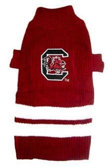 DoggieNation-College - South Carolina Gamecocks Dog Sweater - Xtra Small