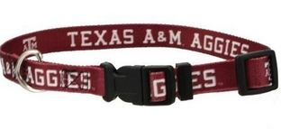 DoggieNation-College - Texas A&M Dog Collar - Small