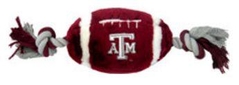 DoggieNation-College - Texas A&M Plush Football Dog Toy - One