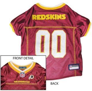 DoggieNation-NFL - Washington Redskins Dog Jersey - Yellow Trim - Large