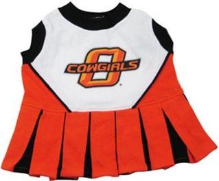 DoggieNation-College - Oklahoma State Cheerleader Dog Dress - XtraSmall