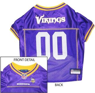 DoggieNation-NFL - Minnesota Vikings Dog Jersey - Yellow Trim - Medium