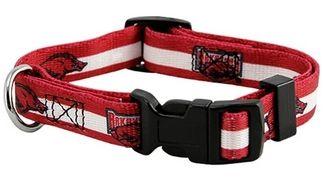 DoggieNation-College - Arkansas Razorbacks Dog Collar - Small