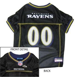 DoggieNation-NFL - Baltimore Ravens Dog Jersey - Black - Large
