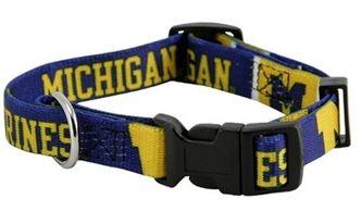DoggieNation-College - Michigan Wolverines Dog Collar - Large