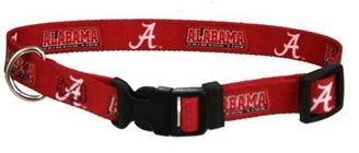 DoggieNation-College - Alabama Dog Collar - Large