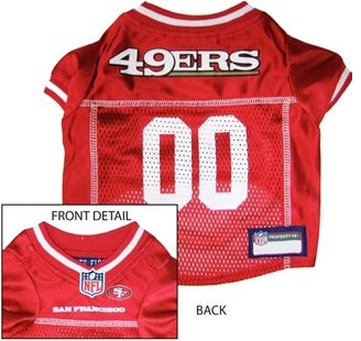 DoggieNation-NFL - San Francisco 49ers Dog Jersey - White Trim - XtraSmall