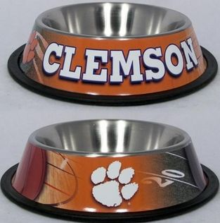 DoggieNation-College - Clemson Dog Bowl - Stainless - One