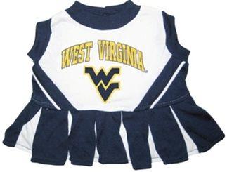 DoggieNation-College - West Virginia Cheerleader Dog Dress - Medium