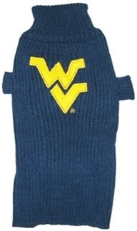 DoggieNation-College - West Virginia Dog Sweater - Large