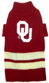 DoggieNation-College - Oklahoma Sooners Dog Sweater - Medium