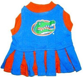DoggieNation-College - Florida Gators Cheerleader Dog Dress - Small