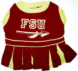 DoggieNation-College - Florida State Cheerleader Dog Dress - Xtra Small