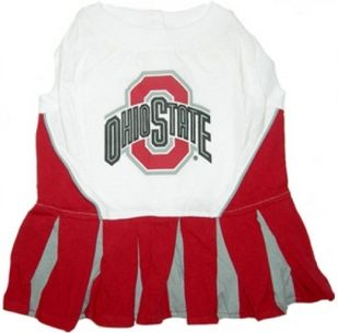 DoggieNation-College - Ohio State Cheerleader Dog Dress - Small
