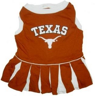 DoggieNation-College - Texas Longhorns Cheerleader Dog Dress - Medium