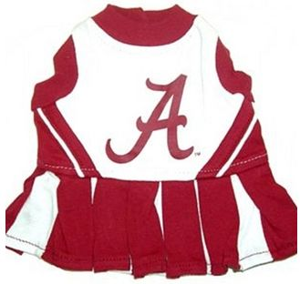 DoggieNation-College - Alabama Cheerleader Dog Dress - Xtra Small