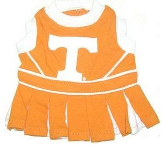DoggieNation-College - Tennessee Volunteers Cheerleader Dog Dress - Small