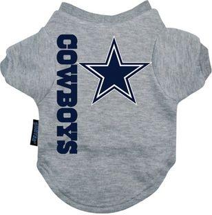 DoggieNation-NFL - Dallas Cowboys Dog Tee Shirt - Large