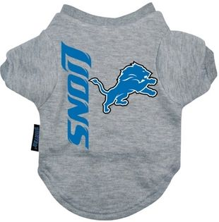 DoggieNation-NFL - Detroit Lions Dog Tee Shirt - Small
