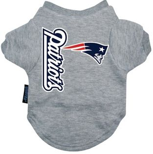 DoggieNation-NFL - New England Patriots Dog Tee Shirt - Small