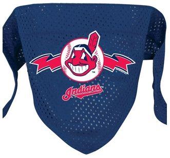 DoggieNation-MLB - Cleveland Indians Mesh Dog Bandana - Small