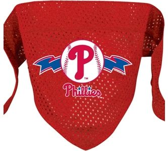 DoggieNation-MLB - Philadelphia Phillies Mesh Dog Bandana - Small