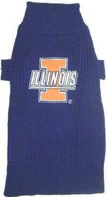 DoggieNation-College - Illinois Fighting Illini Dog Sweater - Xtra Small