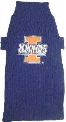 DoggieNation-College - Illinois Fighting Illini Dog Sweater - Small
