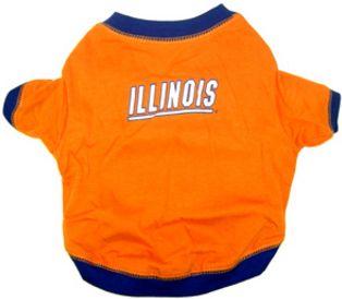 DoggieNation-College - Illinois Fighting Illini Dog Tee Shirt - Small