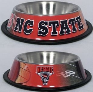 DoggieNation-College - North Carolina State Dog Bowl - Stainless Steel - One Size