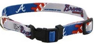 DoggieNation-MLB - Atlanta Braves Dog Collar - Large