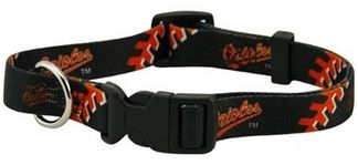 DoggieNation-MLB - Baltimore Orioles Dog Collar - Small