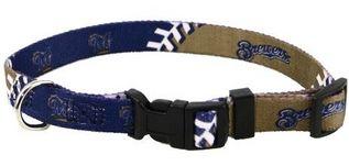 DoggieNation-MLB - Milwaukee Brewers Dog Collar - Medium