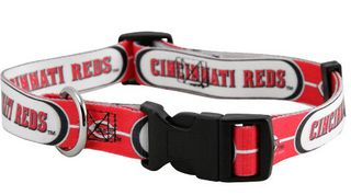 DoggieNation-MLB - Cincinnati Reds Dog Collar - Small