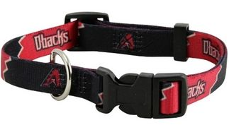 DoggieNation-MLB - Arizona Diamondback Dog Collar - Medium