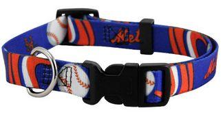 DoggieNation-MLB - New York Mets Dog Collar - Medium