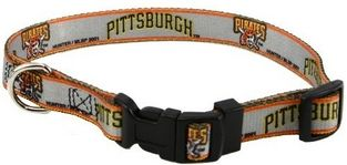 DoggieNation-MLB - Pittsburgh Pirates Dog Collar - Small