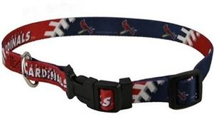 DoggieNation-MLB - St. Louis Cardinals Dog Collar - Large