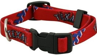 DoggieNation-MLB - Texas Rangers Dog Collar - Small