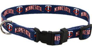 DoggieNation-MLB - Minnesota Twins Dog Collar - Medium